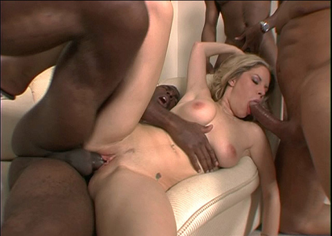 Hot babe bukkaked by three black guys on brobang blog
